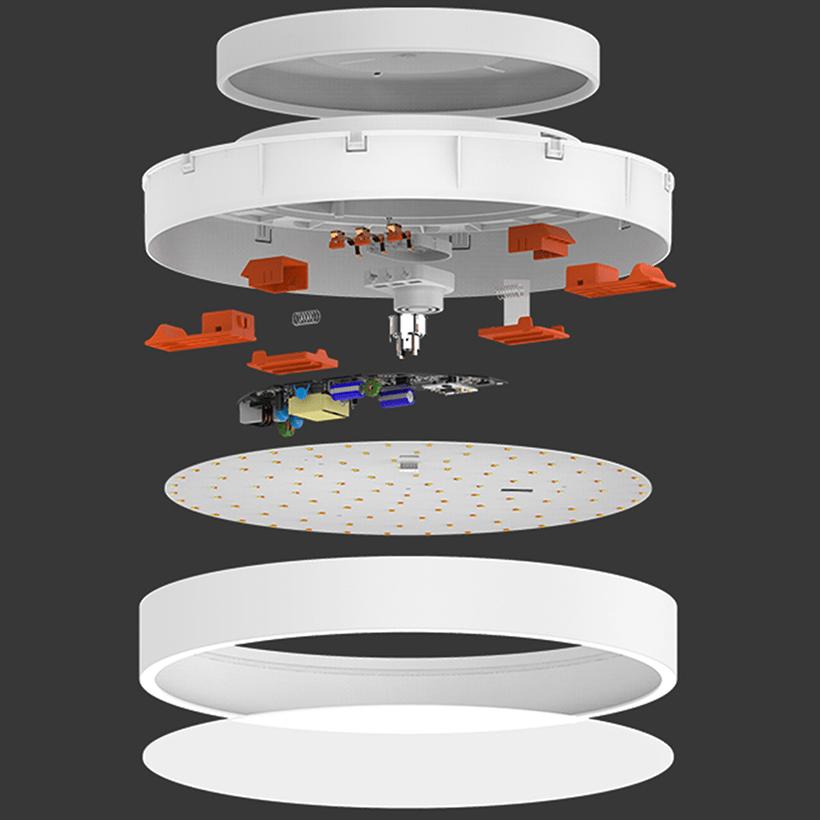 Yeelight LED Ceiling Light rozložení světla